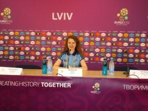 Olga at Euro 2012