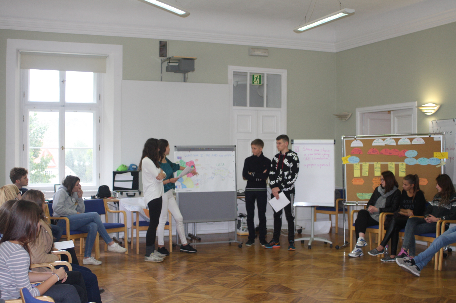 Presenting the outcome of the workshop.